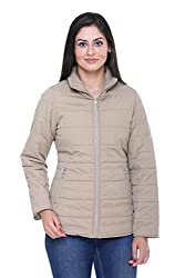 Trufit Full Sleeves Solid Women's Fawn Polyester Basic Casual Jacket