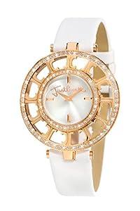 Just Cavalli R7251176515 - Reloj analógico de mujer de cuarzo con correa de piel blanca