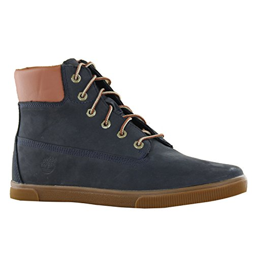 Timberland Ek 6 Inch Lace Navy Youths Boots Size 5.5 Us back-213973