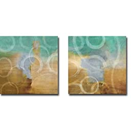 Ethereal I & II by Brent Nelson 2-pc Premium Gallery Wrapped Canvas Giclee Art Set (Ready to Hang)