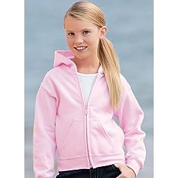Gildan Heavyweight Blend Youth Full Zip Hood, Light Pink, Medium