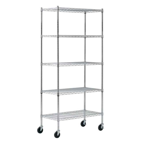 Sandusky MWS361872 Heavy Duty Mobile Wire Shelving Unit, 36