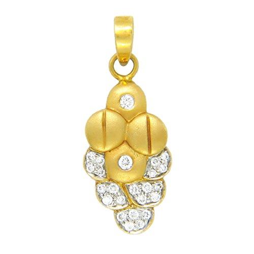 Popleys 18k Yellow Gold and Diamond Pendant