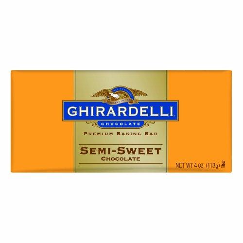 Ghirardelli Chocolate Baking Bar, Semi-Sweet Chocolate, 4-Ounce Bars (Pack of 6) (Ghirardelli Bar compare prices)