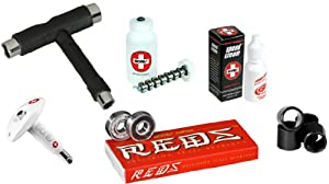 Bones Super Reds Precision Skate Bearings With Complete Maintenance Kit by Bones