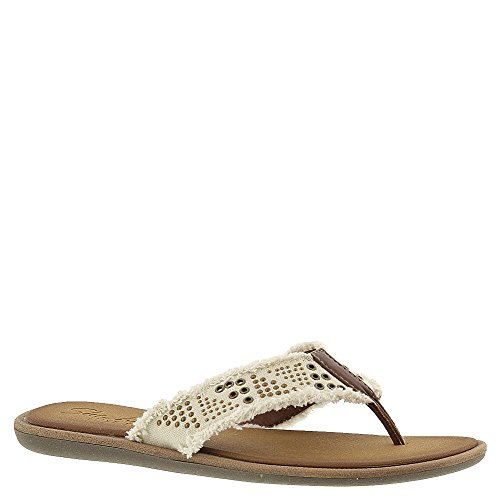 Skechers Cali Women's Indulge-Antiquity Flip Flop, Natural, 9 M US