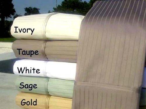 Marrikas 1000Tc Egyptian Cotton King Taupe Pin Stripe Sheet Set front-867415
