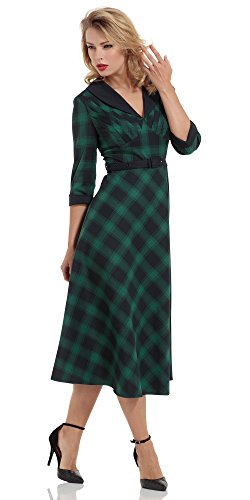 Voodoo Vixen -  Vestito  - Donna Verde-nero M