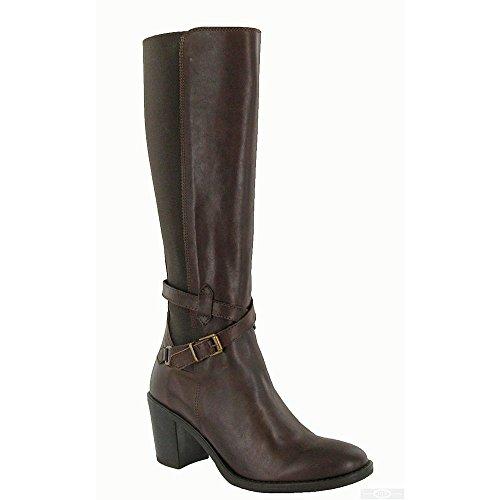 Riva - Turin - Stivali al ginocchio con cerniera - Donna (38 EU) (Marrone)