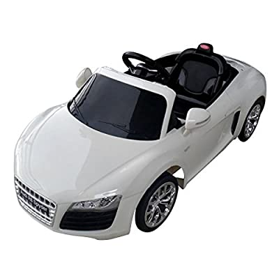 Licensed Audi R8 Spyder 12v Kids Ride on Car with Remote - White - New