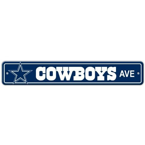 Dallas Cowboys Plastic Street Sign