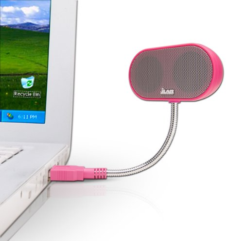 JLab USB Laptop Speakers - Light, Compact, Travel Notebook Speaker for Windows PC and Mac - B-Tense Hi-Fi Stereo USB Laptop Speaker - Cotton Sweetmeats Pink
