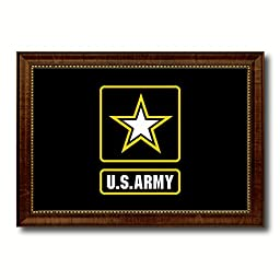 US Army Star Military Flag Canvas Print Designed Patriotic Art Collection Interior Design Shabby Cottage Chic Americana Gift Ideas Wall Art Home Office Décor