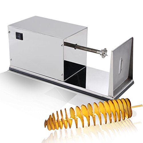 Electric Potato Slicer ~ Electric potato tornado slicer automatic cutter machine