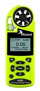 Kestrel 4300 Construction Weather & Environmental Meter / Digital Psychrometer Altimeter Anemometer with Data Logging