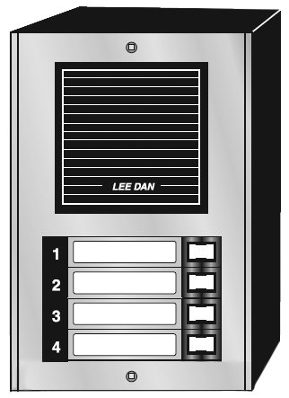 Door Panel 4 Button Auminum Surface Mount-2Pack