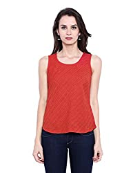 Fabindia Women's Body Blouse Shirt (10425948_Red_Small)