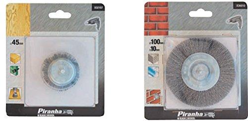 PIRANHA X36010 SPAZZOLA ACCIAIO CIRCOLARI DIAMETRO 100 Confezione da 1PZ