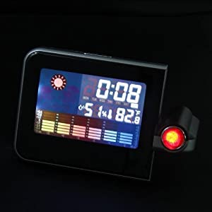 LED Light LCD Projection Digital Colour Weather Thermometer Alarm Clock by COCO