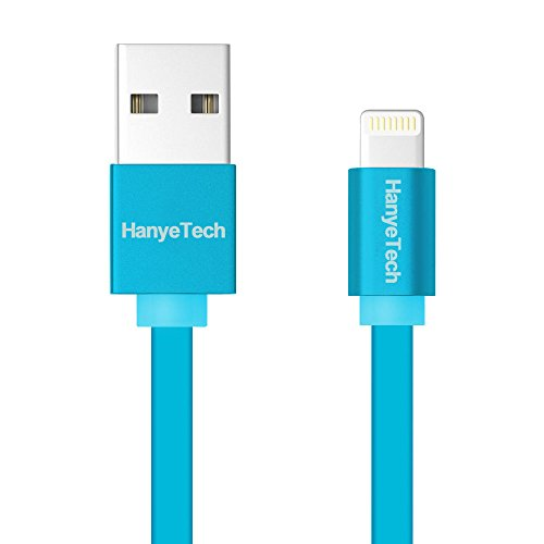 iPhone6 Plus USBライトニングケーブル Lightning ケーブル iOS8.3対応 絡み防止 アルミ合金コンパクト端子 Apple iPad Air2/iPad mini3/iPhone5 5S 5C Lightning コネクタUSBケーブル耐久性向上 (ブルー1m)
