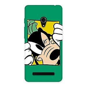 Enticing Sneeking Dog Multicolor Back Case Cover for Zenfone 5