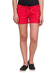 Alibi Women's Shorts(ALBR000090B_28_Red_28)