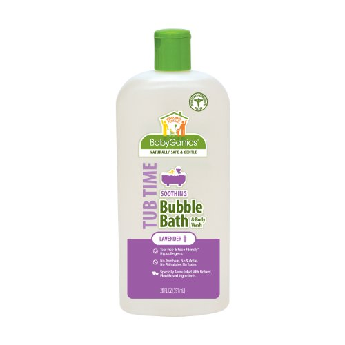 Babyganics Tub Time Gentle Bubble Bath and Body Wash, Natural Lavender, 20 fl. oz.  (Pack of 2)