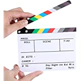 """Neewer Acrylic Plastic 6x5""""/15x12cm Dry Erase Director's Film Clapboard Cut Action Scene Clapper Board Slate with Color Sticks"""