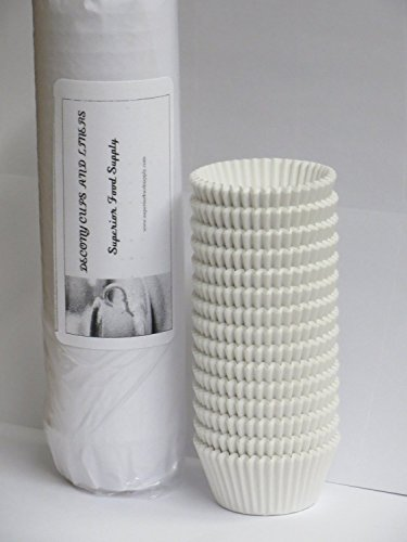 Mini Baking Cups White 1000/Pack (Cupcake Liners Bulk compare prices)