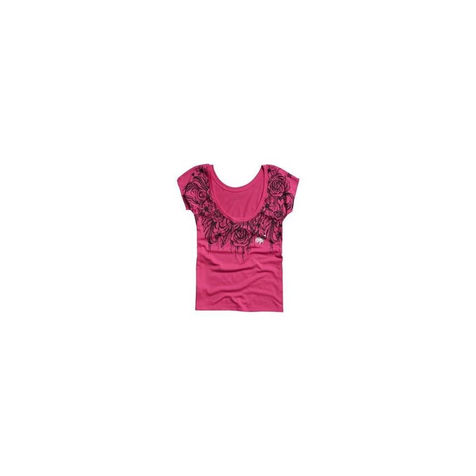 Fox Racing Womens Destination Scoop Back T Shirt   Large