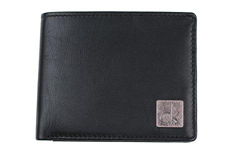 (カルバンクライン) Calvin Klein 二つ折財布 小銭入れ付き K50K500714 黒 ブラック レザー 牛革 [並行輸入品]