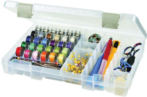 ArtBin Sew-Lutions Bobbin/Supply Box - Clear Sewing Storage Container, 6911AB (Sewing Supply Box compare prices)