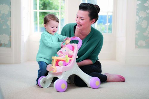 Fisher-Price Brilliant Basics Stroll Along Walker Customerpackagetype: Frustration-Free Packaging Toy, Kids, Play, Children front-728660