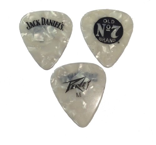 Peavey Medium 351 Jack Daniels Clam Black Pearl Picks