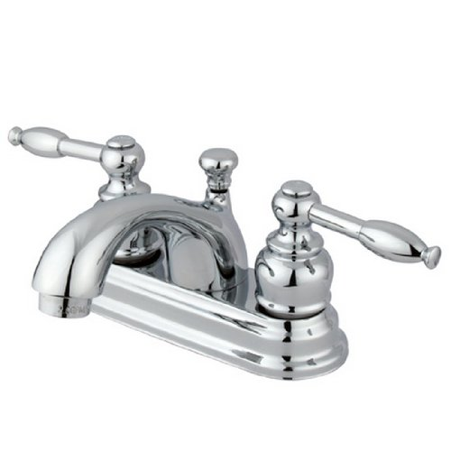 Kingston Brass KB2601KL Knight 4-Inch Centerset Lavatory Faucet, Polished Chrome (4 Centerset Bathroom Faucet compare prices)