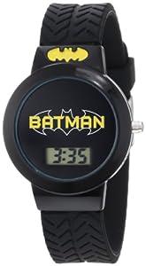 Batman Kids' BAT4065 Batman Black Tire Tread Rubber Strap Watch