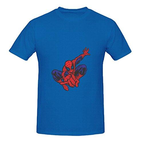 KARLEE Organic Cotton Round Neck Spider Man Desenho Homem Aranha Colorido Men T shirts