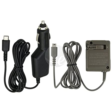 2 Set Car Home AC Wall Charger for Nintendo DS lite