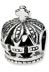 Reflections Sterling Silver Crown Bead / Charm