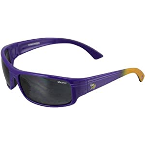Minnesota Vikings NFL Team Block Sunglasses With Protective Cloth Lens Cleaning Bag... by MODO