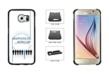 buy Headphones On World Off - Think Music Plastic Phone Case Back Cover For Samsung Galaxy S6 G920