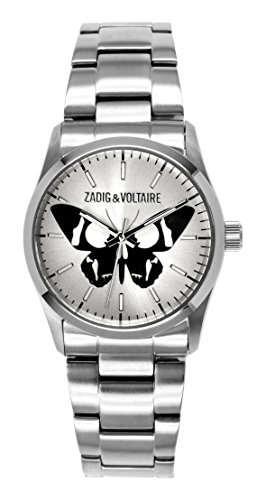 Zadig Voltaire ZV &002/FM-Rock Women's Watch Analogue Quartz Silver Dial Silver Steel Strap