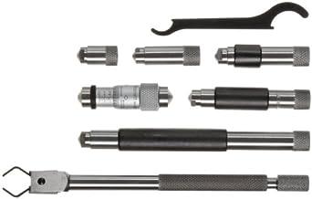 "Starrett 823AZ Tubular Vernier Inside Micrometer Set, 1.5-8"" Range, 0.001"" Graduation, +/-0.0001"" Accuracy"