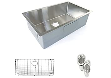 Starstar 32.75 X 18 Undermount Stainless Steel Single Bowl Kitchen Sink with Accessories