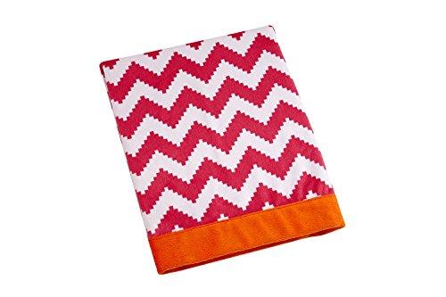 Happy Chic Baby Jonathan Adler Party Elephant Blanket, Pink/Orange/White