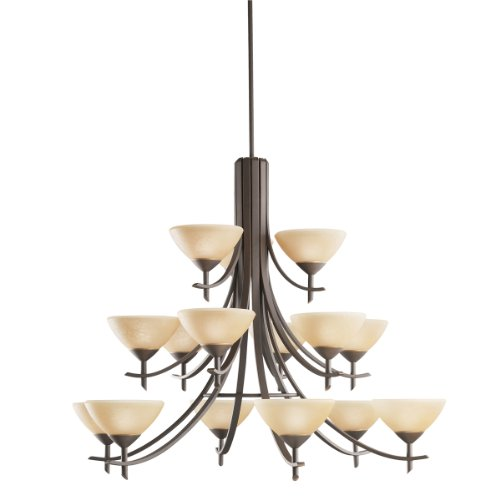 Kichler Lighting 1681OZ 15-Light Olympia Incandescent Chandelier, Old Bronze