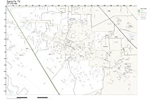 Amazon  ZIP Code Wall Map Of Santa Fe TX ZIP Code