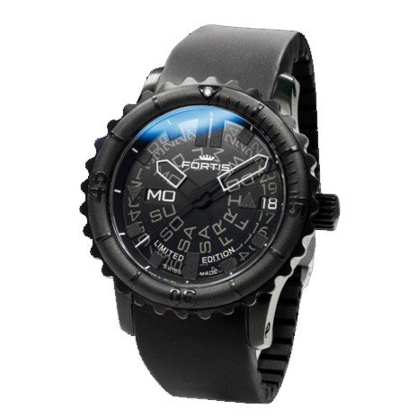 Fortis reloj hombre Aviation Flieger B-47 Big Black automática 675.18.81 K