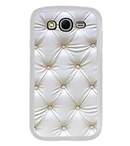 White Leather Design 2D Hard Polycarbonate Designer Back Case Cover for Samsung Galaxy Grand I9082 :: Samsung Galaxy Grand Z I9082Z