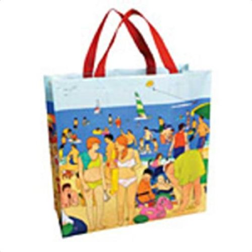 Blue Q Shoppers Day At The Shore Reusable Tote Bags 16 X 15 223828 front-391934